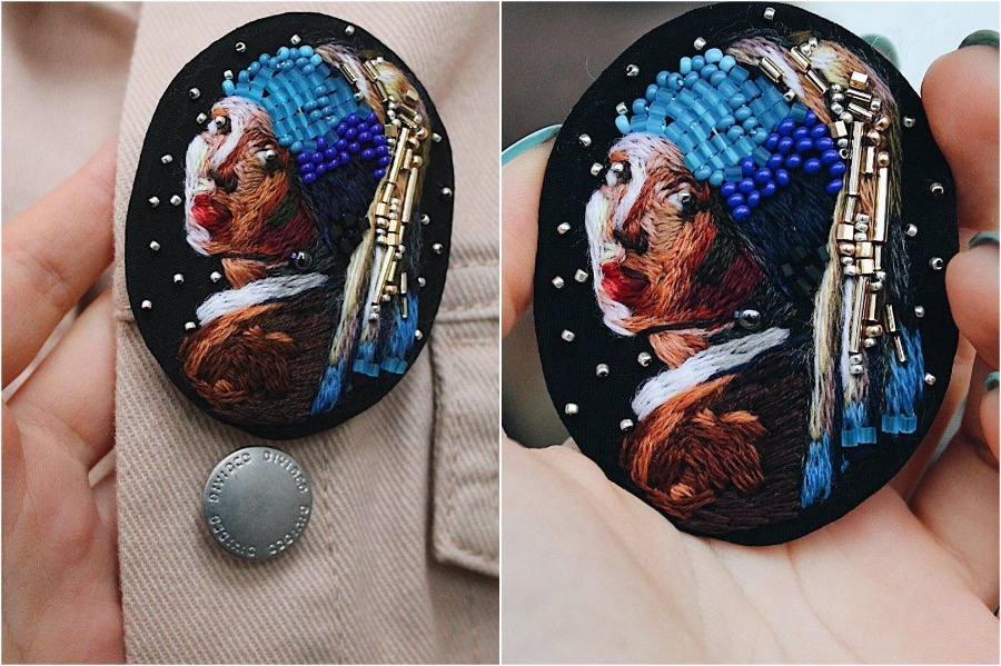 #5 | Embroidery Brooches Van Gough Would Be Impressed By | Gammicks.com