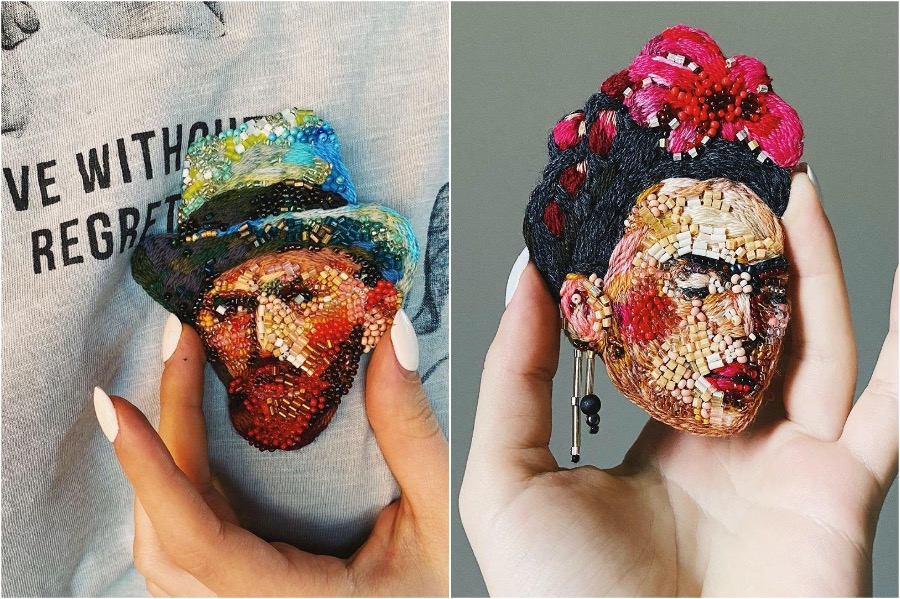#8 | Embroidery Brooches Van Gough Would Be Impressed By | Gammicks.com
