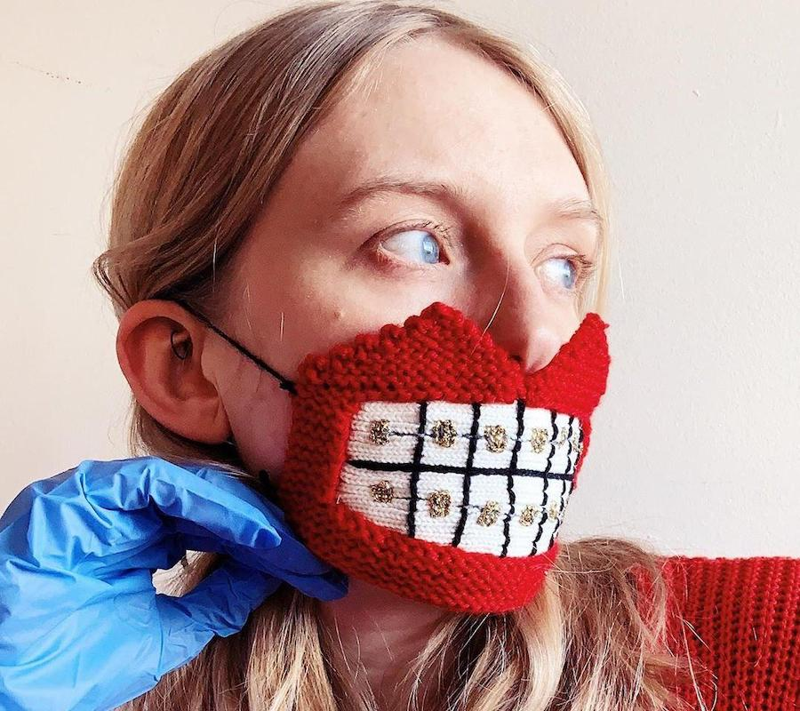 #1 | Unique Knitted Face Masks By An Artist From Iceland | Zestradar