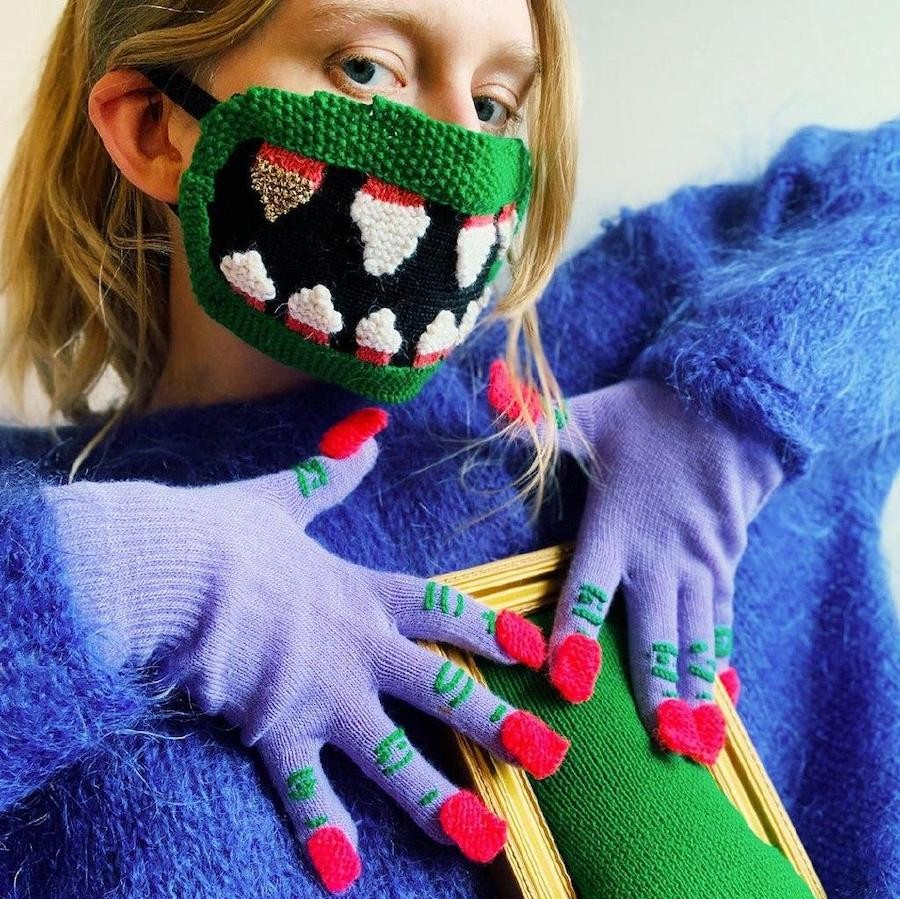 #3 | Unique Knitted Face Masks By An Artist From Iceland | Zestradar