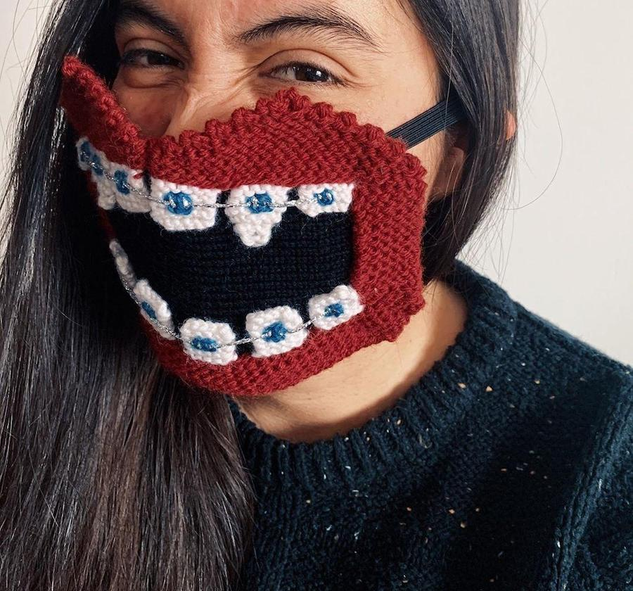 #4 | Unique Knitted Face Masks By An Artist From Iceland | Zestradar