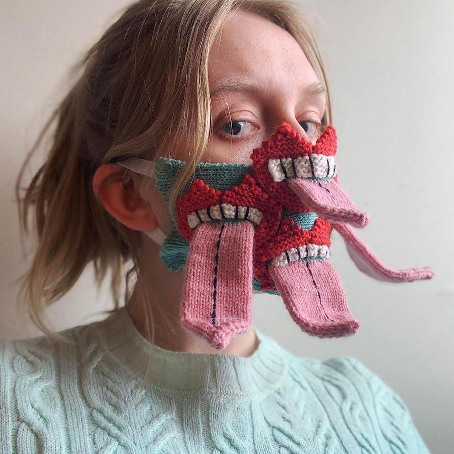 #6 | Unique Knitted Face Masks By An Artist From Iceland | Zestradar