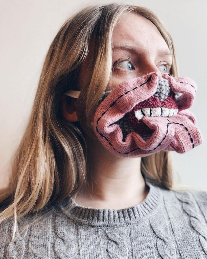 #7 | Unique Knitted Face Masks By An Artist From Iceland | Zestradar