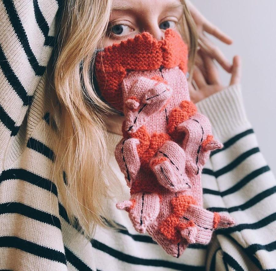 #8 | Unique Knitted Face Masks By An Artist From Iceland | Zestradar