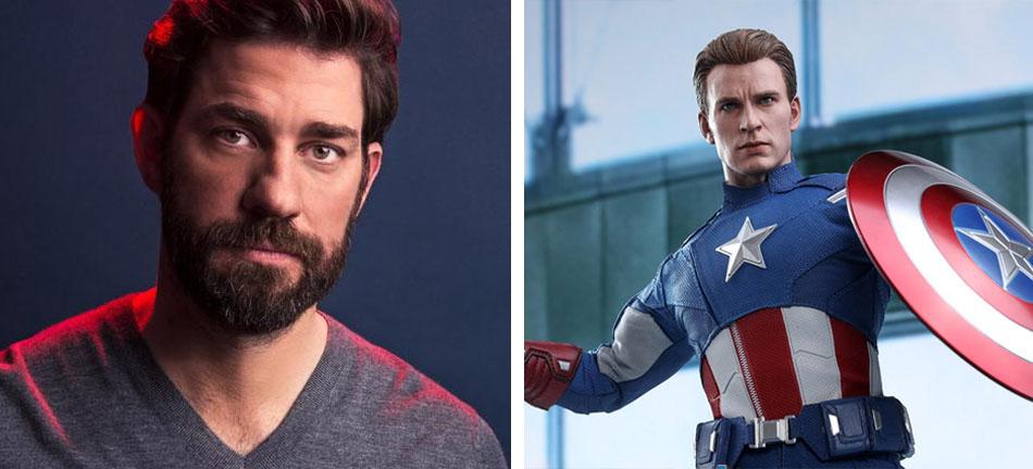 John Krasinski – Captain America | 10 Famous Movie Roles Almost Played By Other Actors | Zestradar