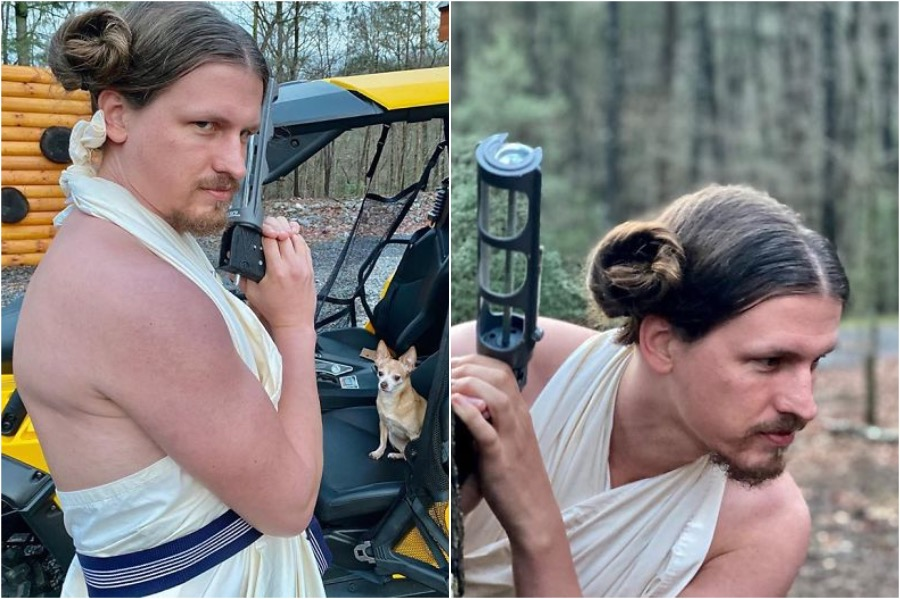 Princess Leia | Australian Hair Stylist Does Her Boyfriend's Hair In Quarantine | Zestradar