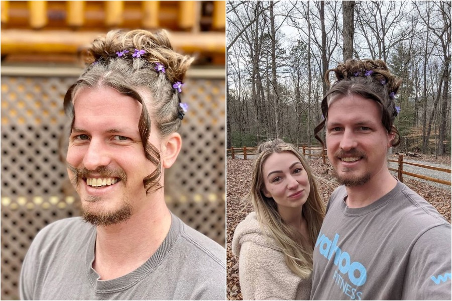 Australian Hair Stylist Does Her Boyfriend's Hair In Quarantine | Zestradar