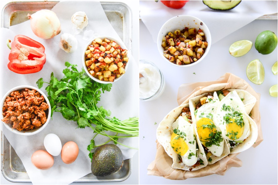 Chorizo And Fried Egg Breakfast Tacos | 10 Best Quick, Easy Breakfast & Dinner Ideas | Zestradar