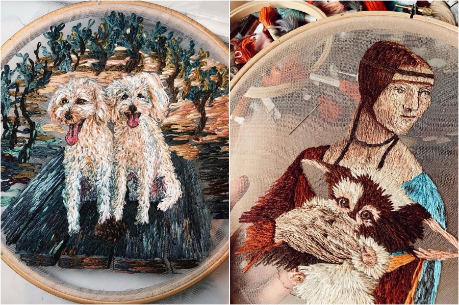 #4 | Gorgeous Embroidery On Tulle By A Russian Artist | Zestradar