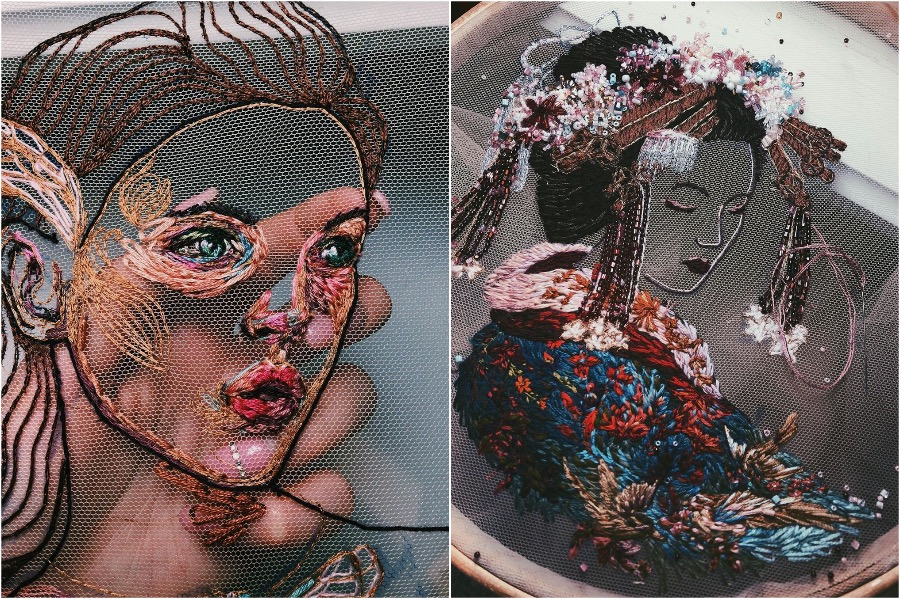 #6 | Gorgeous Embroidery On Tulle By A Russian Artist | Zestradar