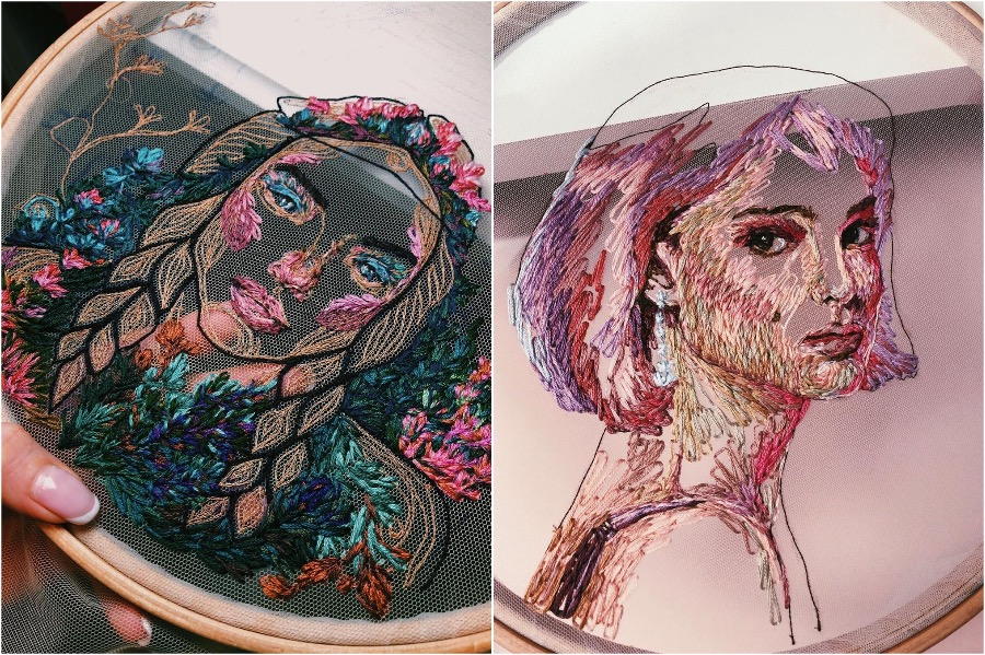 #7 | Gorgeous Embroidery On Tulle By A Russian Artist | Zestradar