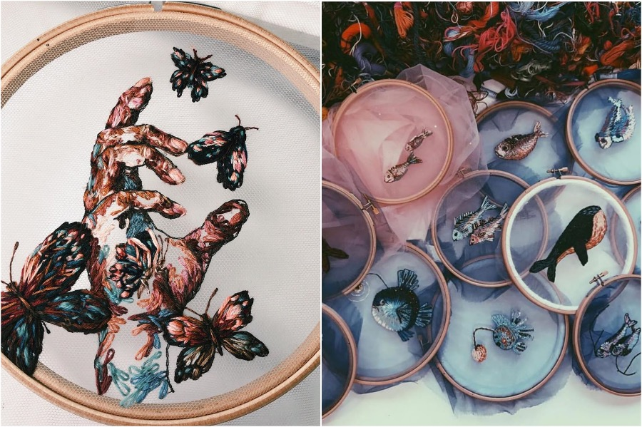 Gorgeous Embroidery On Tulle By A Russian Artist | Zestradar