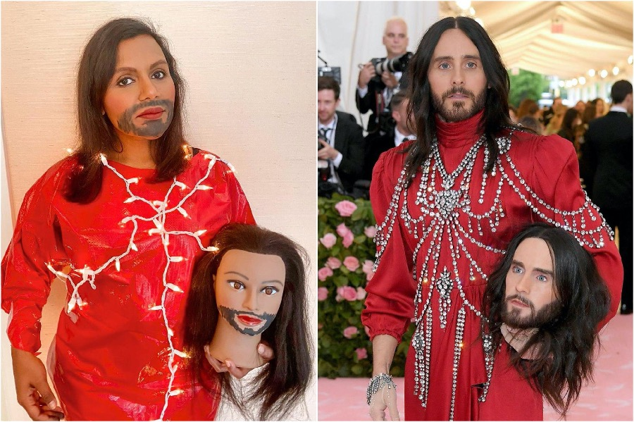 Mini Kailing as Jared Leto | People Who Slayed The Met Gala Challenge | Zestradar