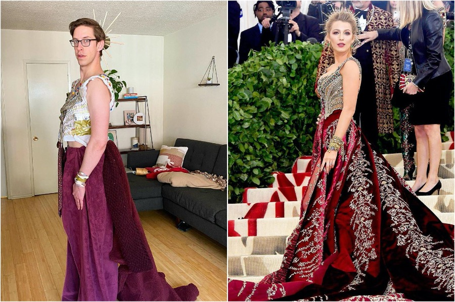 Keith Habersberger as Blake Lively | People Who Slayed The Met Gala Challenge | Zestradar
