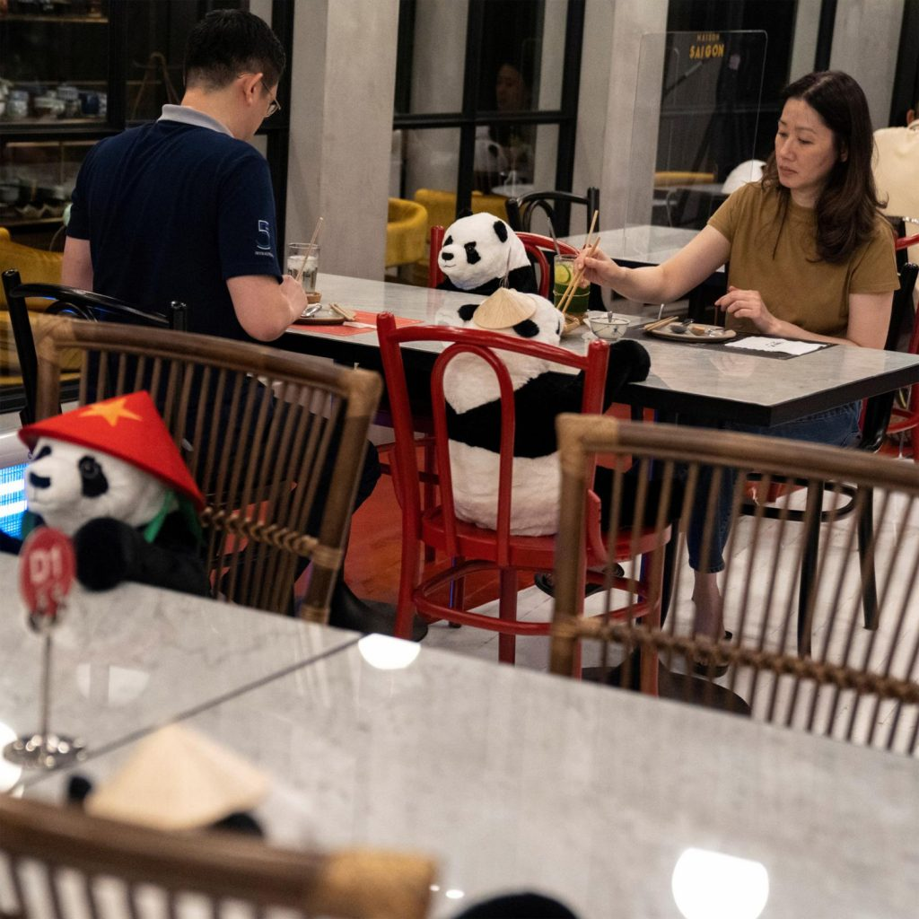 #4 | Restaurant in Thailand Brings Pandas to the Table to Promote Social Distancing | Zestradar