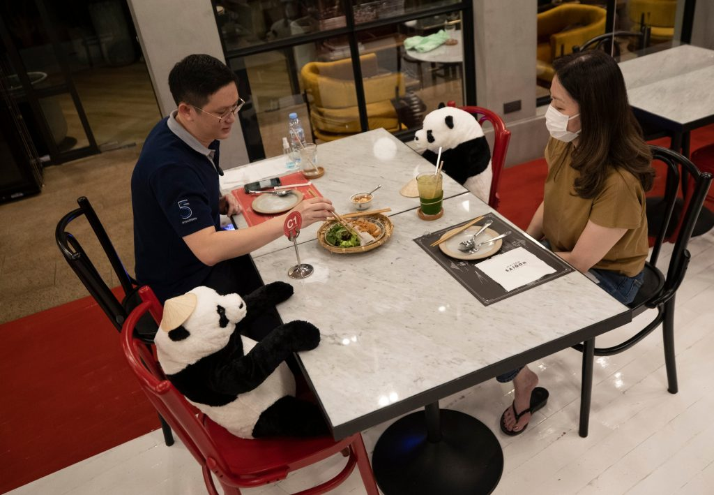 #9 | Restaurant in Thailand Brings Pandas to the Table to Promote Social Distancing | Zestradar