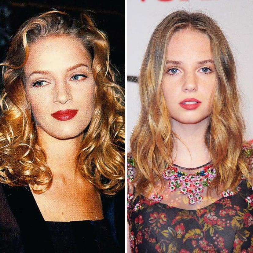 Uma Thurman and Maya Hawke | 9 Celebrity Daughters Who Look Just Like Their Moms | advacar.com
