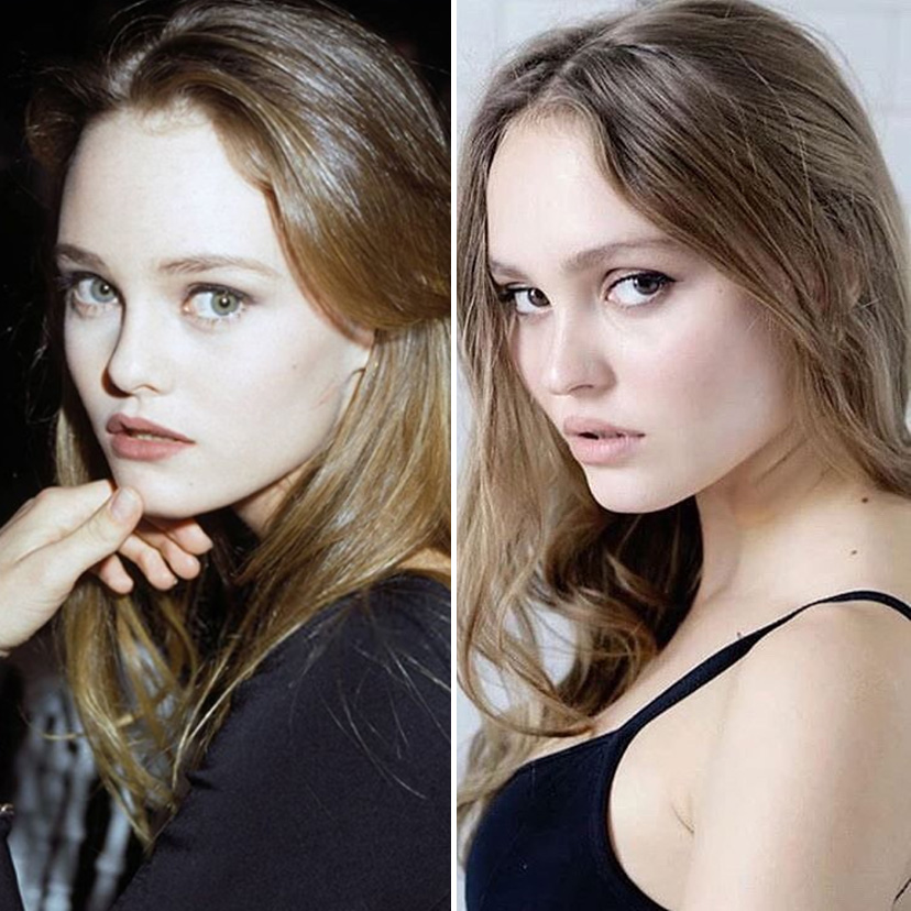 Vanessa Paradis and Lily-Rose Depp | 9 Celebrity Daughters Who Look Just Like Their Moms | advacar.com