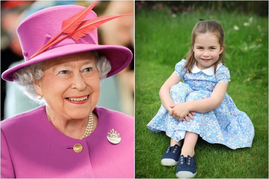 Queen Elizabeth II and Princess Charlotte | 8 Celebrity Grandchildren Who Look Like Their Grandparents | Advacar
