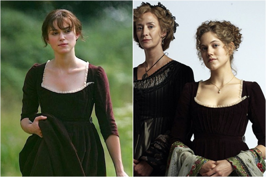 Pride & Prejudice, 2005 — Sense and Sensibility, 2008 | 8 Times The Film Industry Reused Costumes | Zestradar