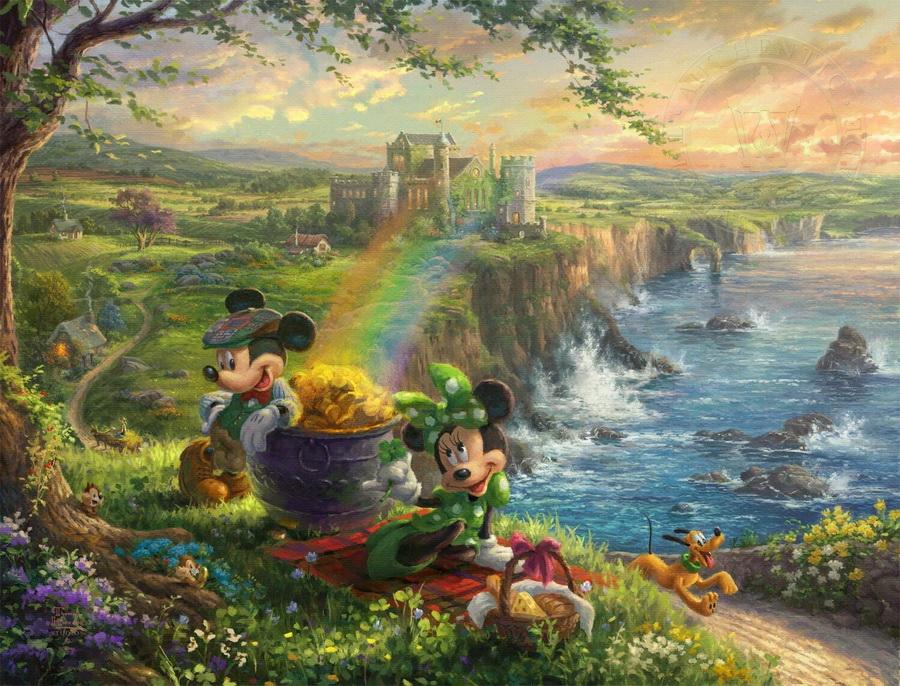 «Микки и Минни в Ирландии» | Картины с диснеевскими сюжетами, которые прекраснее чем сами мультфильмы | Zestradar