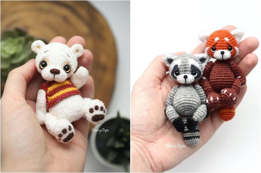 #1 | Russian Artist Creates Adorable Tiny Amigurumi Stuffed Creatures | Zestradar