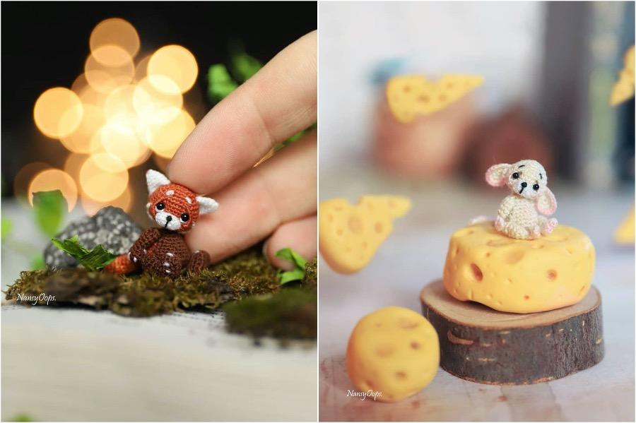 #9   Russian Artist Creates Adorable Tiny Amigurumi Stuffed Creatures   Zestradar