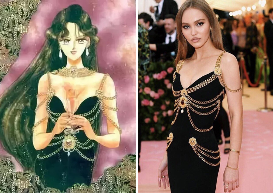 Setsuna – Chanel (1992) | Sailor Moon Costumes Reveal Mind-Blowing 90s Fashion References | Zestradar