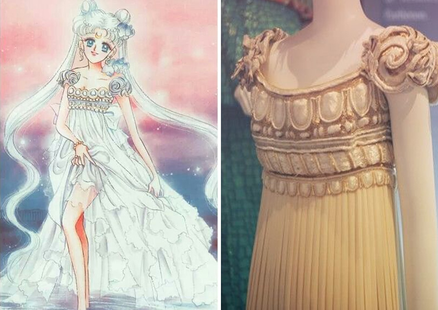 Serenity – Christian Dior (1992) | Sailor Moon Costumes Reveal Mind-Blowing 90s Fashion References | Zestradar