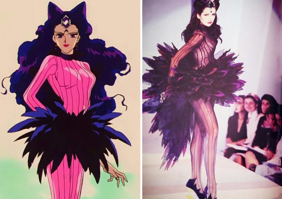 Koan – Thierry Mugler (1992) | Sailor Moon Costumes Reveal Mind-Blowing 90s Fashion References | Zestradar