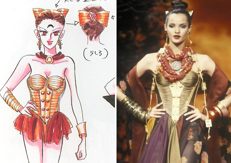 Calaveras – Christian Lacroix (1992) | Sailor Moon Costumes Reveal Mind-Blowing 90s Fashion References | Zestradar