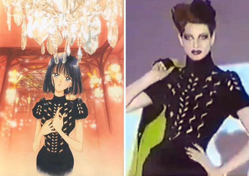 Hotaru – Thierry Mugler (1992) | Sailor Moon Costumes Reveal Mind-Blowing 90s Fashion References | Zestradar
