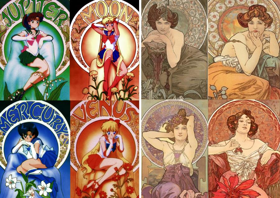 Sailor Warriors – Alphonse Mucha | Sailor Moon Costumes Reveal Mind-Blowing 90s Fashion References | Zestradar