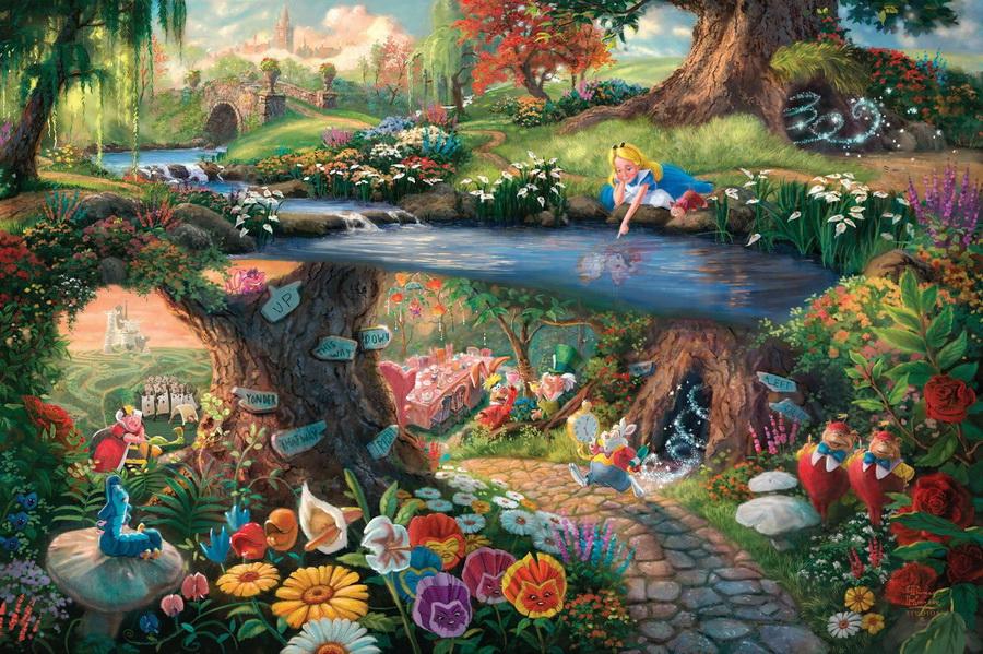 «Алиса в стране чудес» | Картины с диснеевскими сюжетами, которые прекраснее чем сами мультфильмы | Zestradar