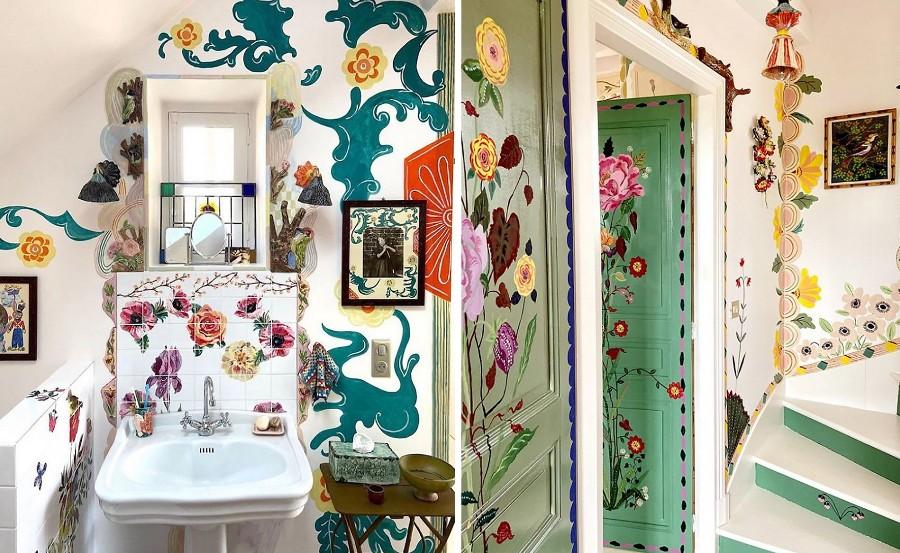 Сказочный дом французской художницы, стены которого стали картинами | Zestradar
