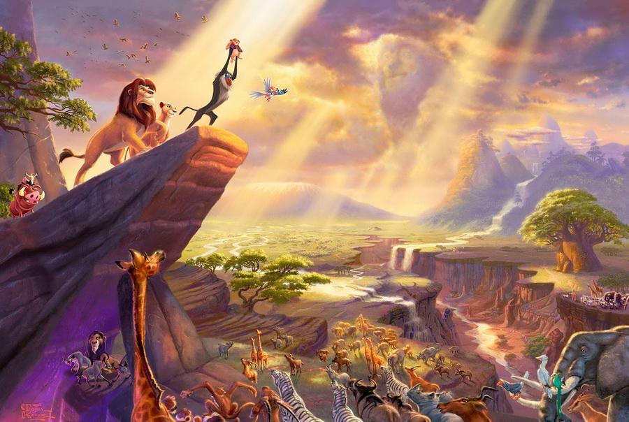 «Король лев» | Картины с диснеевскими сюжетами, которые прекраснее чем сами мультфильмы | Zestradar