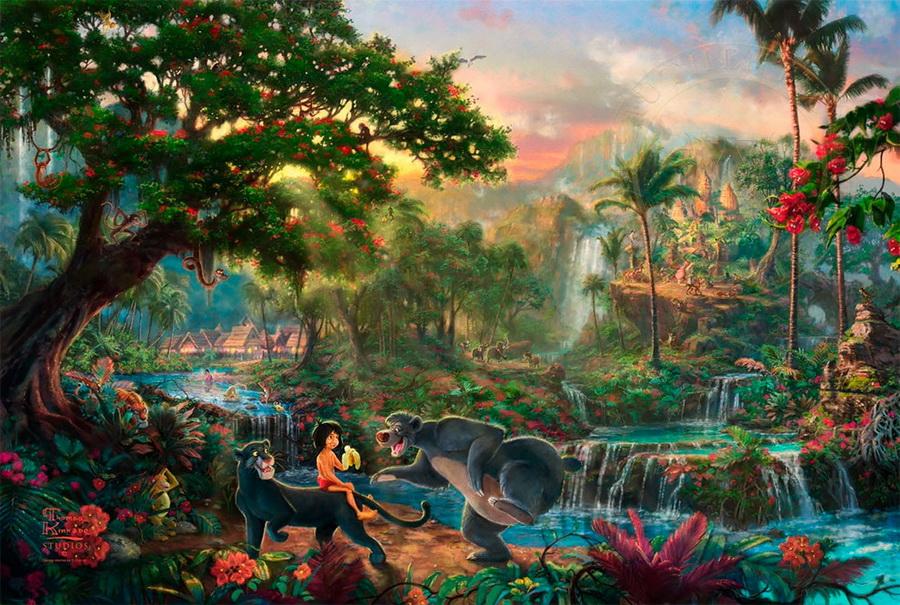 «Книга джунглей» | Картины с диснеевскими сюжетами, которые прекраснее чем сами мультфильмы | Zestradar