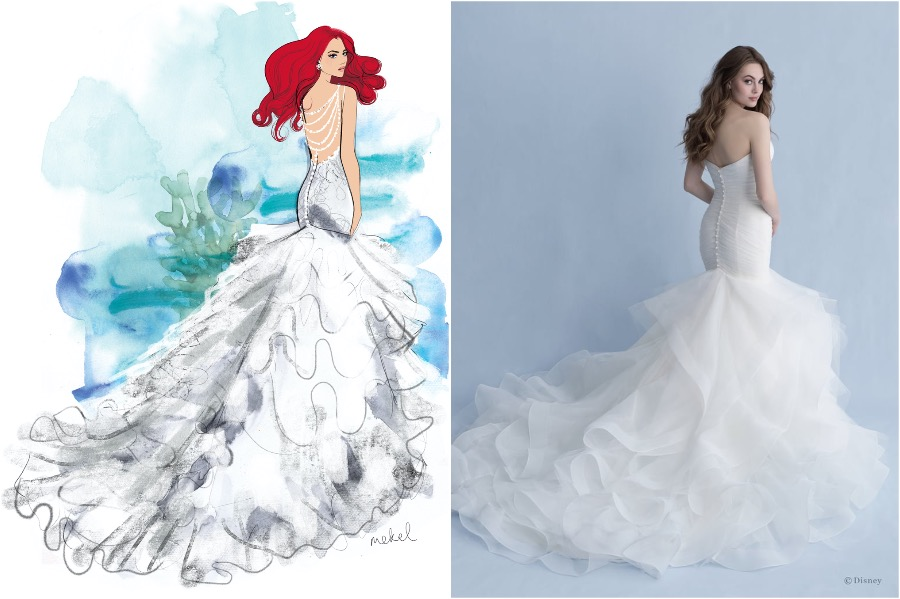 Ariel | The Disney Wedding Gown Collection Is Out | Zestradar