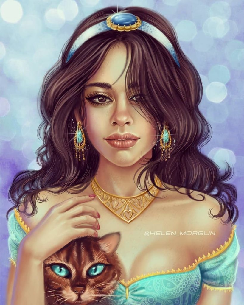 4Jasmine - Camila Cabello | Ukrainian Artist Reimagines Your Favorite Celebrities as Disney Princesses | Zestradar