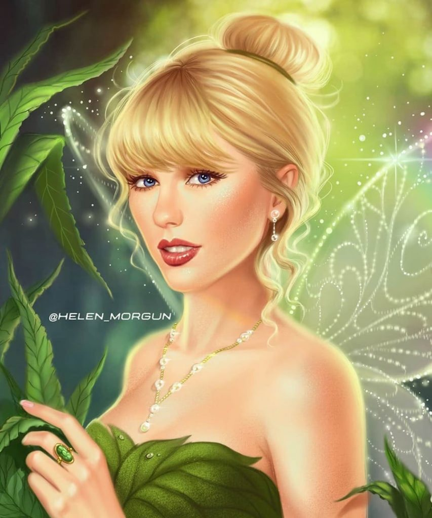 Tinker Bell - Taylor Swift | Ukrainian Artist Reimagines Your Favorite Celebrities as Disney Princesses | Zestradar