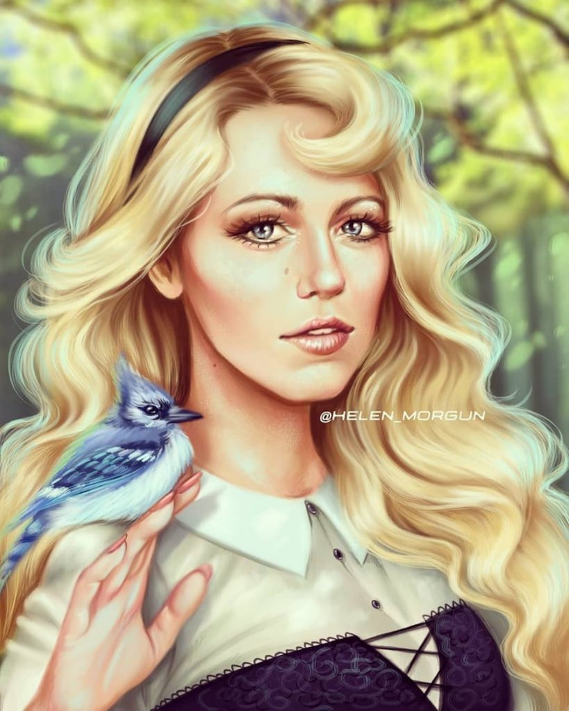 Sleeping Beauty - Blake Lively | Ukrainian Artist Reimagines Your Favorite Celebrities as Disney Princesses | Zestradar