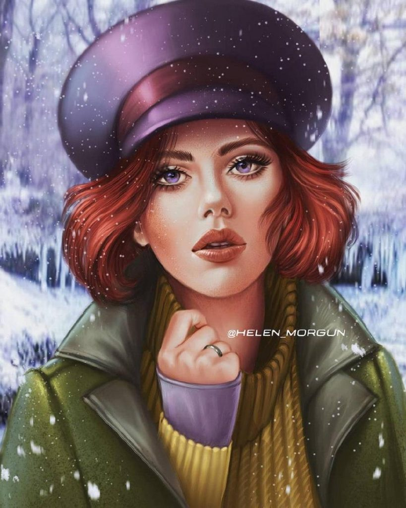 Anastasia - Scarlett Johansson | Ukrainian Artist Reimagines Your Favorite Celebrities as Disney Princesses | Zestradar