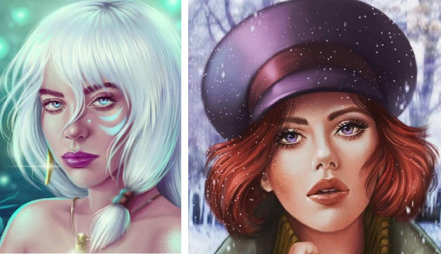 Ukrainian Artist Reimagines Your Favorite Celebrities as Disney Princesses | Zestradar
