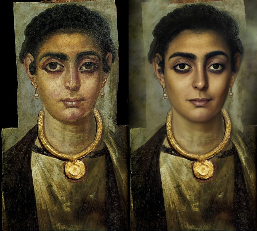 Фаюмский портрет мумии | Художник создает фотографии исторических личностей с помощью искусственного интеллекта | Zestradar
