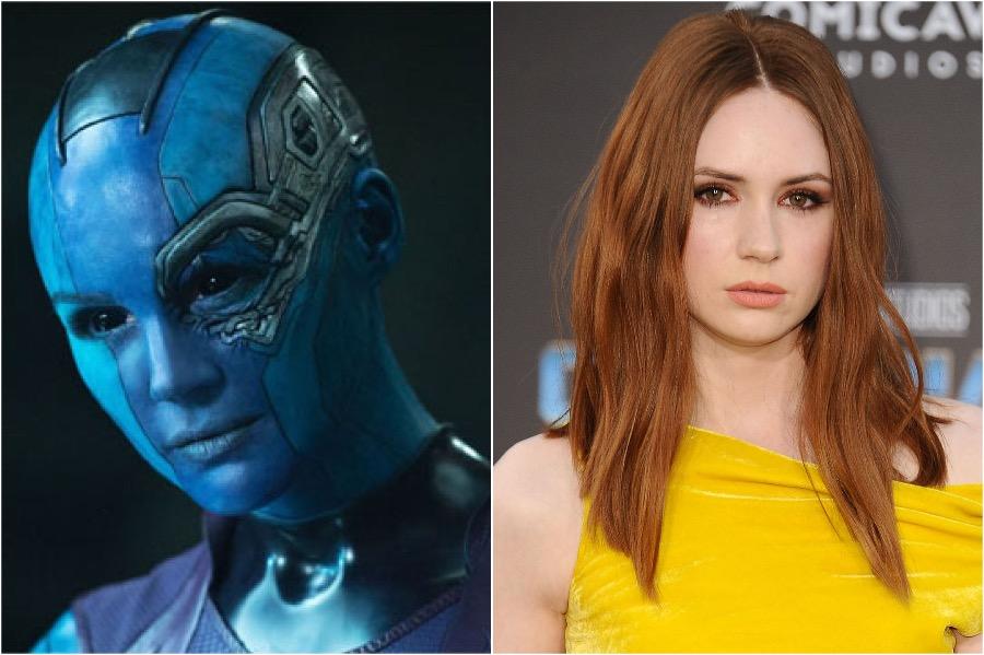 Karen Gillan - Nebula | 10 Actors Behind The Fantastic Looking Marvel Characters | Zestradar