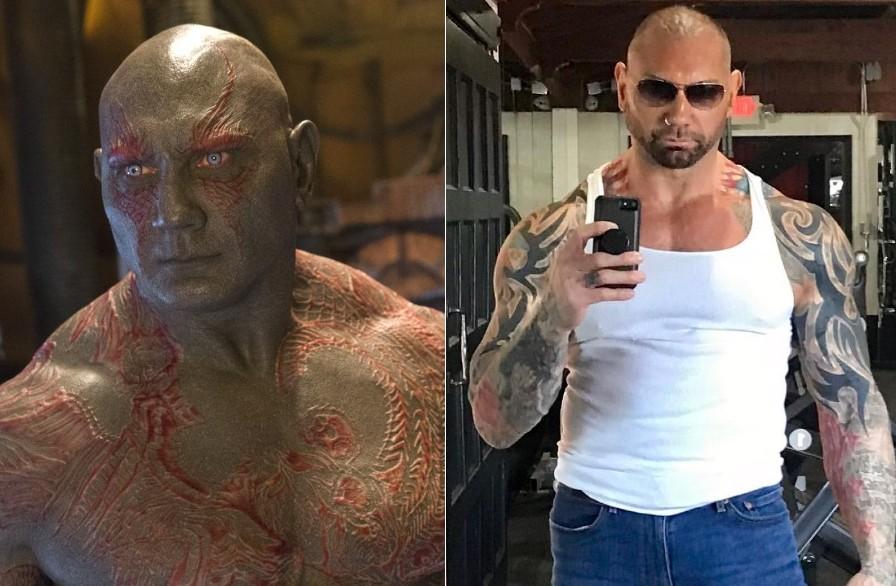 Dave Bautista - Drax the Destroyer | 10 Actors Behind The Fantastic Looking Marvel Characters | Zestradar