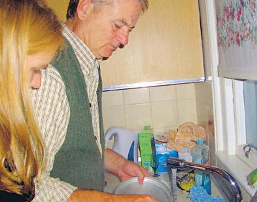 Dishwashing | 8 Times Bill Murray Made Total Strangers Happy | Zestradar
