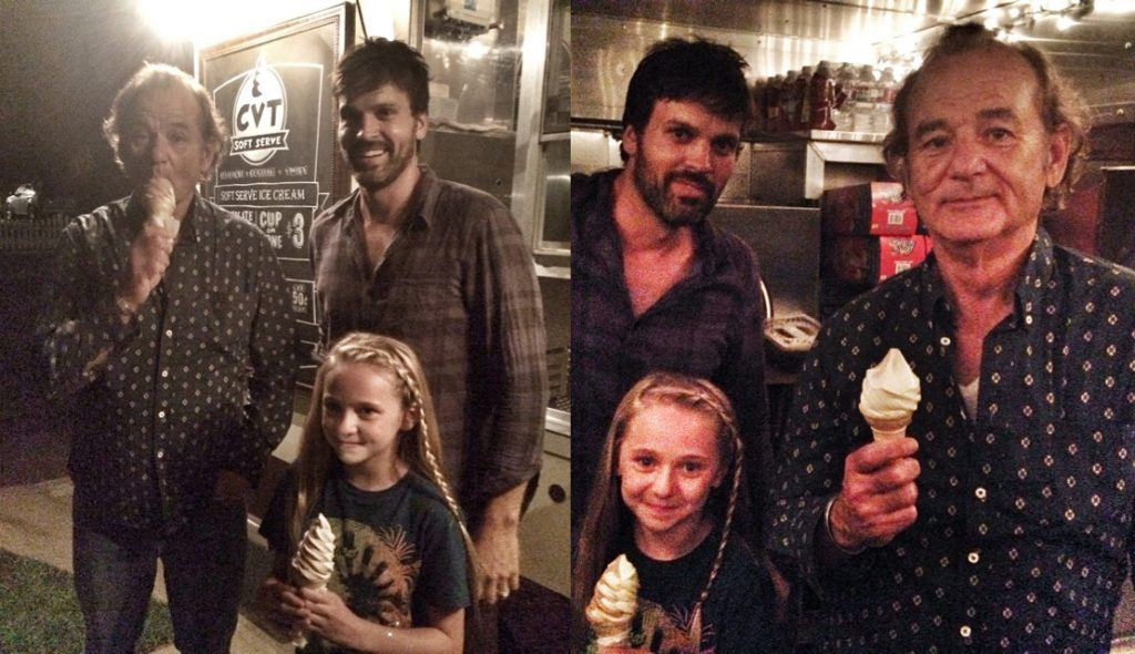 Fan's Ice Cream Party | 8 Times Bill Murray Made Total Strangers Happy | Zestradar