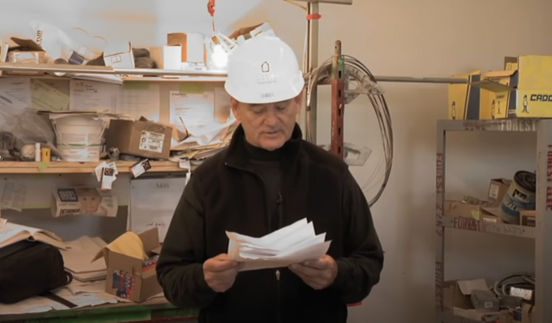 Construction Site Poetry | 8 Times Bill Murray Made Total Strangers Happy | Zestradar