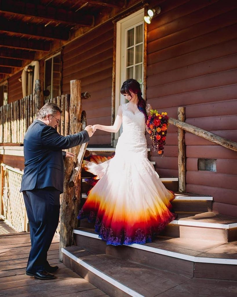 #1 | Artist Starts A Business Creating Unique Colorful Wedding Gowns | Zestradar